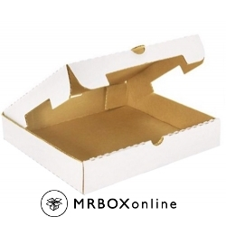 10x10x2 White Plain Corrugated Pizza Box
