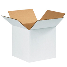 16 Cube White Cardboard Boxes