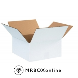 12x12x4 White Corrugated Boxes