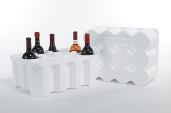 12 Pack Foam Wine Shipper