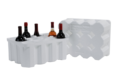 Foam Wine Shippers: For shipping wine