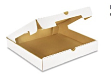 14x14x2 White Plain Corrugated Pizza Box