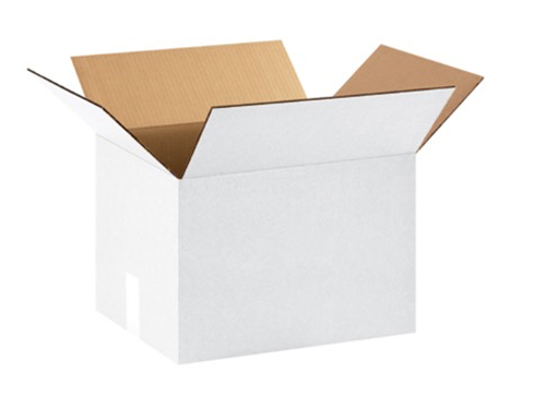 12x10x8 White Corrugated Boxes