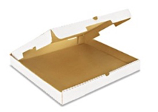 16x16x2 White Plain Corrugated Pizza Box