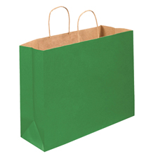 16x6x12 Kelly Green Shopping Bags