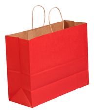16x6x12 Scarlet Tinted Shopping Bags
