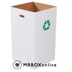 Corrugated Trash Can with Recycle Logo 18x18x36 50 Gallon