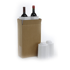 2 Bottle Foam Wine Shippers
