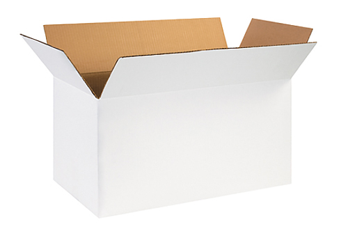 24x12x12 White Corrugated Boxes