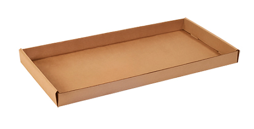 24x12x1.75 Kraft Corrugated Trays