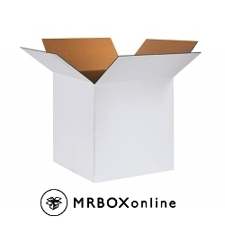 24x24x24 White Corrugated Boxes