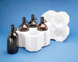 2.5 Liter Boston Round Foam Bottles