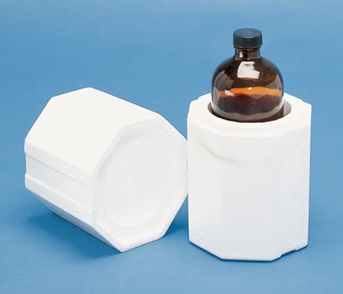 Round Styrofoam Cooler ~ Pint boston round shipper foam shippers mrboxonline