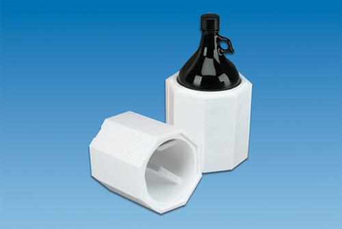 Round Styrofoam Cooler ~ Ounce boston round shipper foam bottle shippers