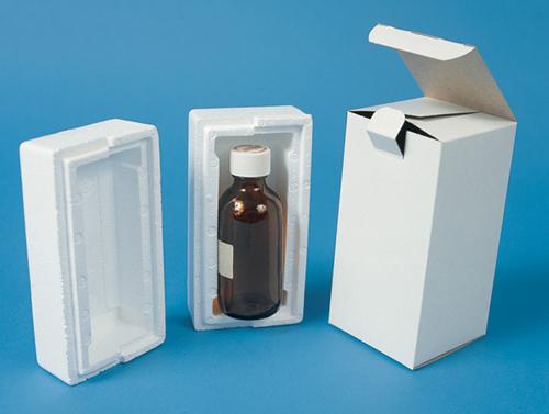 Round Styrofoam Cooler ~ Ounce boston round foam bottle shippers mrboxonline