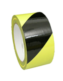 "3""x18yds Aisle Mark Tape Black Yellow"