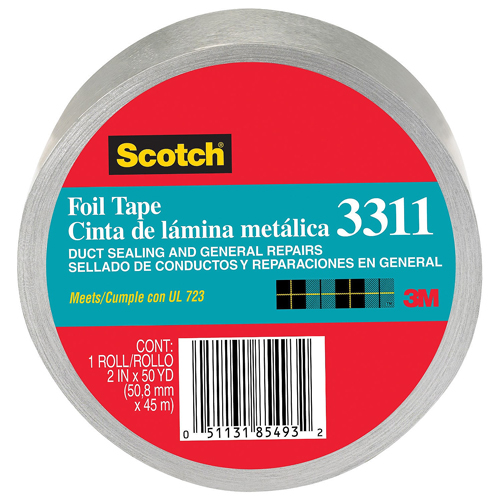 3M Scotch 2x50yd Aluminum Foil Tape