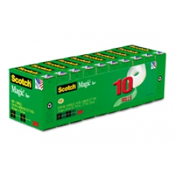 3M Scotch Magic Tapes 3/4x1000 10 ROLLS