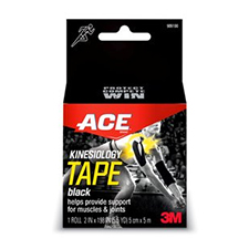 3M ACE Kinesiology Black Tape