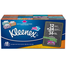 Kleenex Facial Tissue 12 Boxes