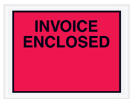 4.5x6 Red Invoice Enclosed Envelope