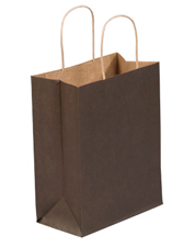 8x4.5x10.25 Brown Tinted Shopping Bags