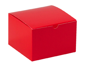 6x6x4 Red Gift Boxes