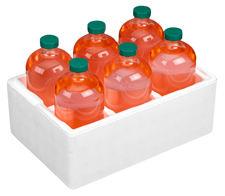 1 liter Foam Bottle Shippers 7 per case