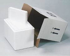 9.5x7.5x10.5 13-Quart Fridge Styrofoam Coolers