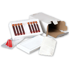 Blood Specimen Kit 8 Tubes Styrofoam
