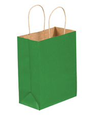 8x4.5x10.25 Kelly Green Tinted Shopping Bags
