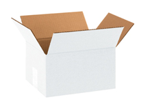 8x6x4 White Corrugated Box