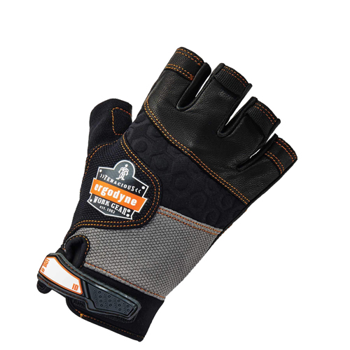 Proflex Half-Fingered Impact Gloves Large