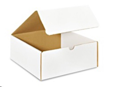 9x6x5 White Die Cut Mailer Boxes