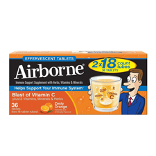 Airborne Zesty Orange Tablets 36 Ct
