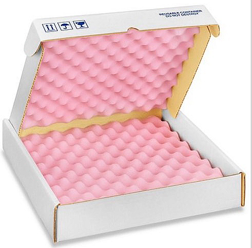 14x14x2.75 Anti Static Foam Lined Shipper Boxes