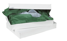 11.5x8.5x1.625 White Apparel Boxes