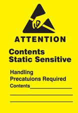 "Attention Contents Static Sensitive Labels 2""x3"""