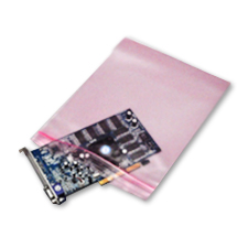 12x15 Pink Anti Static Reclosable Bag 4 Mil