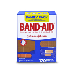 Band-Aid Bandages 170 pieces