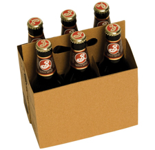 6 Bottle Cardboard Beer Carrier