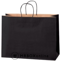 16x6x12 Black Tinted Shopping Bags