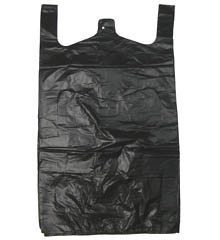 T Shirt Bag Black 11.5x6.5x21
