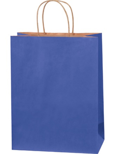 10x5x13 Parade Blue Tinted Shopping Bags