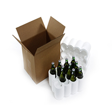 12 Bottle Styrofoam Beer Shipper