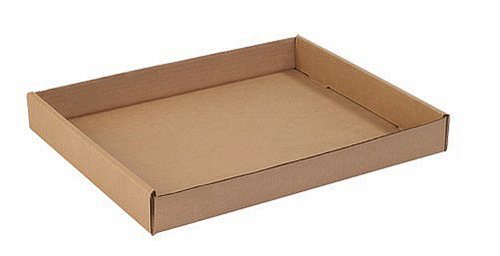 15x12x1.75 Kraft Corrugated Trays