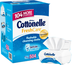 Cottonelle� Fresh Care� Flushable Cleansing Cloths 504 ct