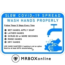 COVID-19 Hand Washing Sign 18x12