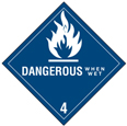 "Dangerous When Wet Labels 4""x4\"""