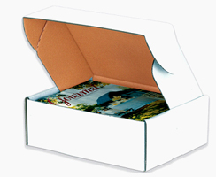 16x10x2.75 Deluxe White Die Cut Mailer Box